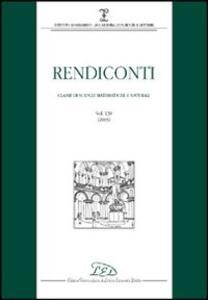 Rendiconti. Classe di scienze matematiche e naturali (2005). Vol. 139 - copertina