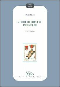 Studi di diritto premiale - Mario Pisani - copertina