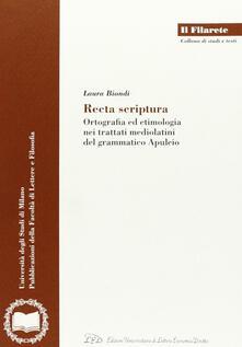 Promoartpalermo.it Recta scriptura. Ortografia ed etimologia nei trattati mediolatini del grammatico Apuleio Image