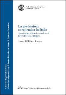 La professione accademica in Italia. Aspetti, problemi e confronti nel contesto europeo - copertina