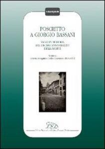 Poscritto a Giorgio Bassani. Saggi in memoria del decimo anniversario della morte - copertina