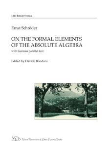 On the Formal Elements of the Absolute Algebra