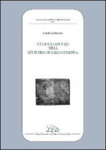 Studi sul caput XXI della Lex Rubria de Gallia Cisaplina