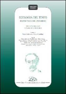 Ecologia del testo. Esperienza del pensiero. Studi in omaggio a Paolo D'Alessandro - copertina