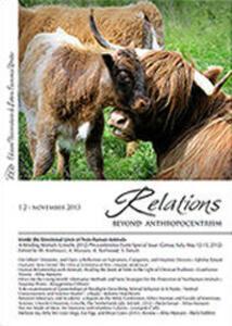 Relations. Beyond anthropocentrism (2013). Vol. 2: Inside the emotional lives of non-human animals. - copertina