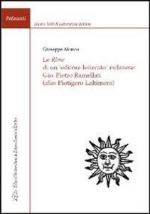 Le rime di un editore-letterato milanese: Gio. Pietro Ramellati (alis Piotigero Laltimera)