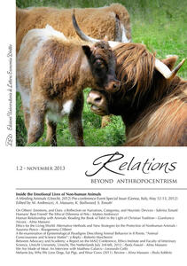 Relations. Beyond anthropocentrism (2013) voll. 1-2. Inside the emotional lives of non-human animals