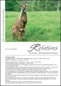 Relations. Beyond anthropocentrism (2014). Vol. 2: Minding animals part 1. - copertina