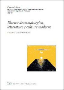 Ricerca drammaturgica, letterature e culture moderne - copertina