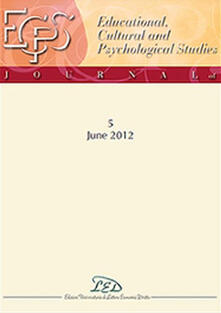 Journal of educational, cultural and psychological studies (ECPS Journal) (2012). Ediz. italiana e inglese. Vol. 5 - copertina