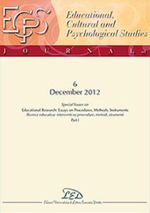 Journal of educational, cultural and psychological studies (ECPS Journal) (2012). Ediz. italiana e inglese. Vol. 6 - copertina