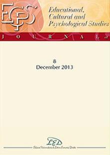 Journal of educational, cultural and psychological studies (ECPS Journal). Ediz. italiana, inglese e spagnola (2013). Vol. 8 - copertina