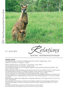 Relations. Beyond Anthropocentrism, 2.1 - June 2014