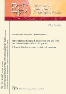 Antondemarirreguera.es Una prova standardizzata per misurare e valutare la comprensione dei testi nella scuola secondaria di I grado. Vol. 2: In uscita dalla classe 2ª e in entrata nella classe 3ª. Image