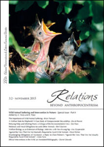 Relations. Beyond anthropocentrism (2015). Vol. 3: Wild animal suffering and intervention in nature. - copertina