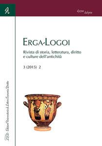 Erga-logoi. Rivista di storia, letteratura, diritto e culture dell'antichità (2015). Ediz. italiana, francese e spagnola. Vol. 3 - copertina
