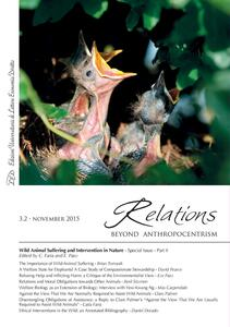 Relations. Beyond Anthropocentrism, 3.2 - November 2015