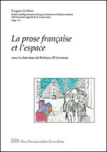 La prose française et l'espace - copertina