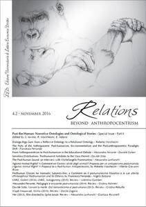 Relations. Beyond Anthropocentrism (2016). Vol. 4\2: Past the human: narrative ontologies and ontological stories. - copertina