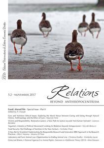 Relations. Beyond anthropocentrism (2017). Vol. 5\2: Food: shared life. - copertina