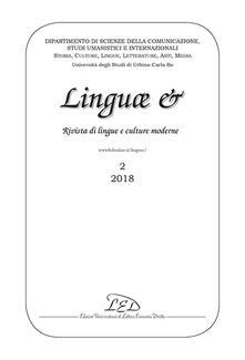 Nordestcaffeisola.it Linguae &. Rivista di lingue e culture moderne. Ediz. italiana, inglese e francese (2018). Vol. 2 Image