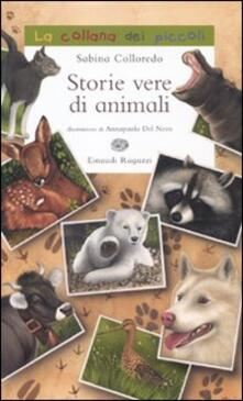 Storie vere di animali - Sabina Colloredo - copertina