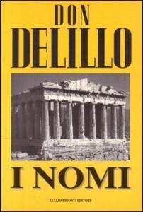 I nomi - Don DeLillo - copertina