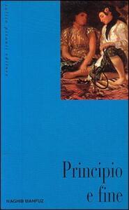 Principio e fine - Nagib Mahfuz - copertina