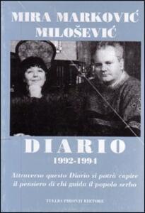 Diario (1992-1994) - Mira Markovic - copertina