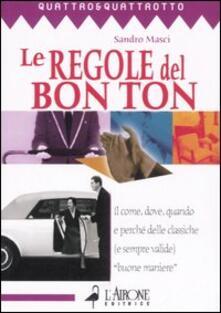 Le regole del bon ton - Sandro Masci - copertina