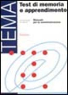 Cocktaillab.it Test TEMA. Test di memoria e apprendimento Image