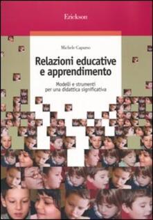 Vitalitart.it Relazioni educative e apprendimento. Modelli e strumenti per una didattica significativa Image
