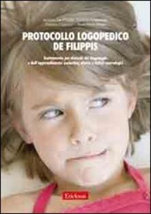 Lpgcsostenible.es Protocollo logopedico De Filippis. Trattamento per disturbi del linguaggio e dell'apprendimento scolastico, afasia e deficit neurologici Image