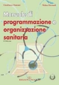 Manuale di programmazione e organizzazione sanitaria