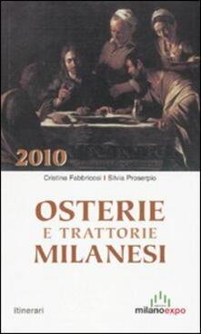 Ipabsantonioabatetrino.it Osterie e trattorie milanesi 2010 Image