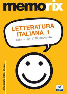 Nicocaradonna.it Letteratura italiana. Vol. 1: Dalle origini al Cinquecento. Image