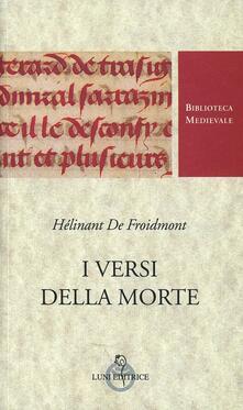 I versi della morte - Hélinant de Froidmont - copertina