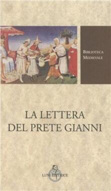 La lettera del prete Gianni - Anonimo  - copertina