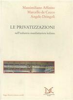 La privatizzazione nell'industria manifatturiera italiana