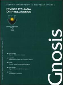 Listadelpopolo.it Gnosis. Rivista italiana di Intelligence (2008). Vol. 2 Image