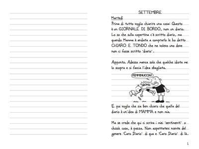 Foto Cover di Diario di una schiappa, Libro di Jeff Kinney, edito da Il Castoro 1