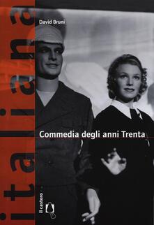 Commedia anni Trenta - David Bruni - copertina