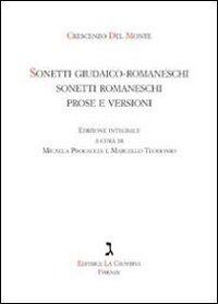 Sonetti giudaico-romaneschi, sonetti romaneschi, prove e versioni. Con CD Audio