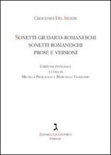 Sonetti giudaico-romaneschi, sonetti romaneschi, prove e versioni. Con CD Audio.pdf