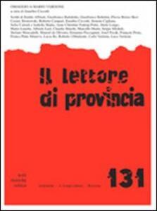 Il lettore di provincia. Vol. 131: Omaggio a Mario Verdone.