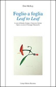 Foglio a foglia-Leaf to leaf