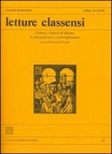 Letture classensi. Vol. 39: Letture e lettori di Dante. L'età moderna e contemporanea. - copertina