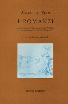 I romanzi - Alessandro Verri - copertina