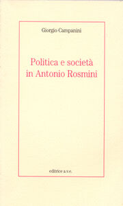 Politica e società in Antonio Rosmini