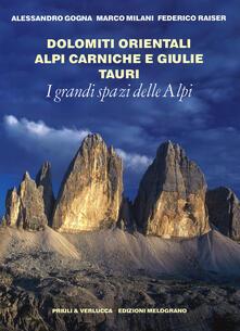 I grandi spazi delle Alpi. Vol. 8: Dolomiti orientali, Alpi Carniche e Giulie Tauri..pdf